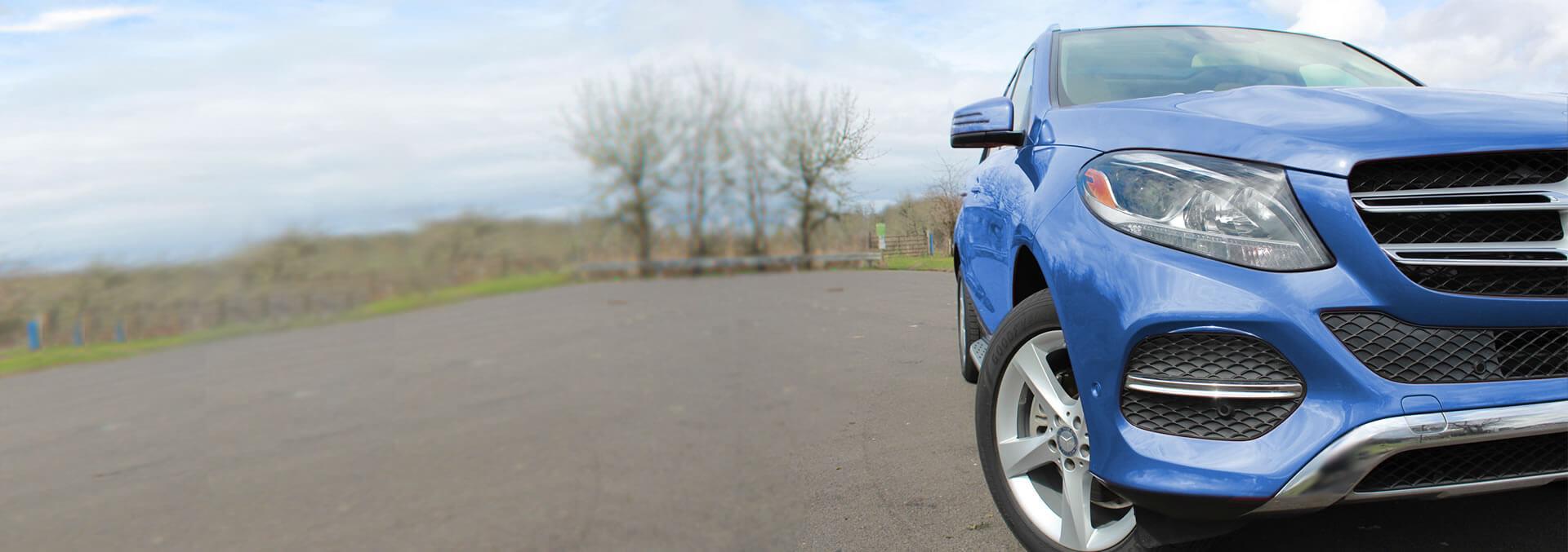 Blue Mercedes-Benz GLE300D